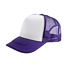 New Arrival Adjustable Child Solid Casual Hats For New Classic Trucker Summer Kids Baseball Golf Mesh Cap Sun Hats(Purple)