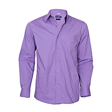 Lavender/Purple Long Sleeved Slim Fit Shirt