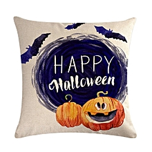Halloween Series Pillow Covers Cute Cotton Linen Bed Home Pillow Case Multi-color mixed