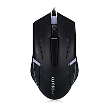 M - 506 Wired Mouse With Colorful LED Light-Black