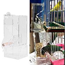 Fashionable Acrylic Pet Birds Food Feeder Toy Transparent