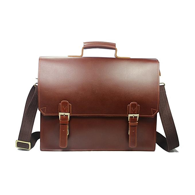 54d7ca83e008 High Cl Italian Leather Briefcase Men Briefcase Business Bag Tote Leather  Laptop Bag Men Messenger Bag Shoulder Bag(red brown)