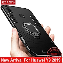 Rzants For Huawei Y9 2019 Case [Armor Ring] Shockproof Hybrid Armor Man Hard Phone Casing