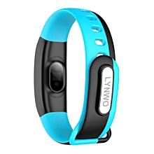 Blood Pressure Dynamic Heart Rate Sport Smart Bracelet Wristband For Andriod Blue