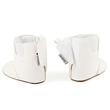 bluerdream-Baby Girl Boy Soft Booties Snow Boots Infant Toddler Newborn Warming Shoes-White