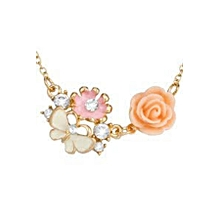 Rose Gold Plated Butterfly Necklace