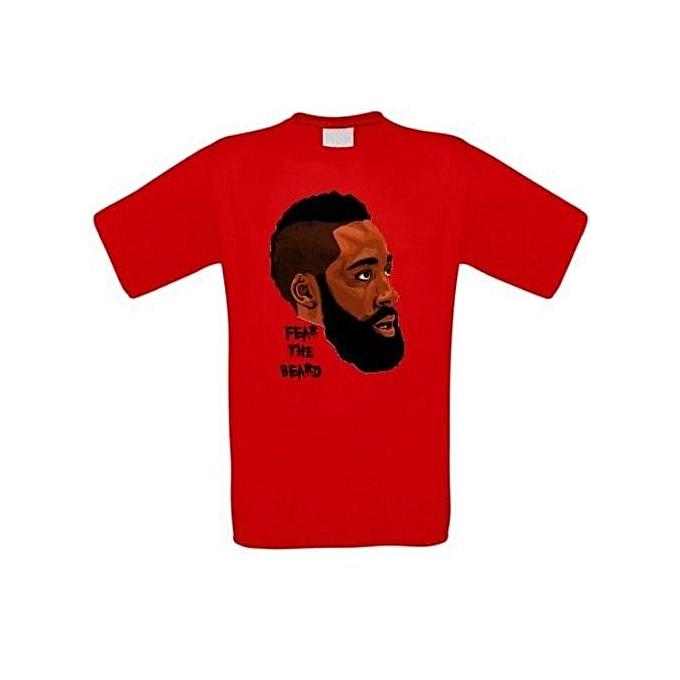 official photos 4417d 5c331 Men's Fashion T-Shirt James Harden Rockets Basketball T-Shirt Men Summer T  Shirts