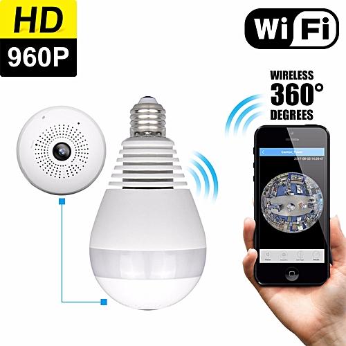 4c2b0f1120b9e Generic Owlview Wireless Light Bulb IP Camera Wi-fi FishEye 960P 360 degree  Mini CCTV VR Camera