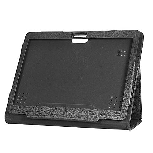 PU Leather Case Folding Stand Cover For 10.1 Inch Onda V10 4G Tablet Black