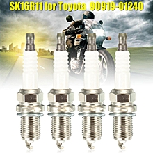 4x Denso SK16R11 Iridium Spark Plug For Toyota Corolla Matrix Prius 90919-01240