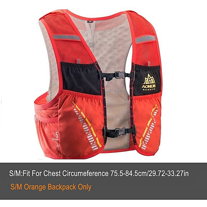 87b9c236c3 5L Ultra Trail Running Hydration Vest Backpack Cycling Marathon Rucksack  Bag Water Bladder Running Race ADV SKIN 5 SET(Orange-S-Backpack)