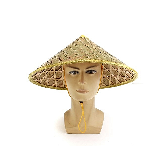 9958bcc3e Asian Vietnamese Japanese Coolie Straw Bamboo Sun Hat Farmer Costume  Accessory-