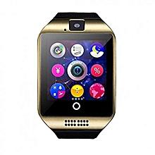 Q18 Smart Watch Phone - 0.8MP Camera – Single SIM - Gold