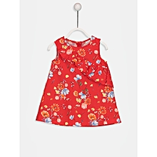 Red Floral Fashionable Dress