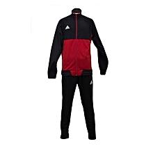 T/Suit Tiro 17 Pes/Trg Men- Bq2596/Bk0348black/Red- L