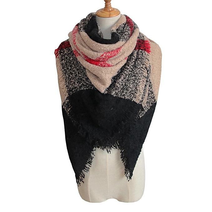 jiuhap store Womens Tartan Plaid Square Blanket Scarf Large Checked Wrap  Shawl Winter Warm F- 0d48a1d0b0