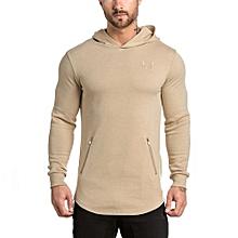 Men's Hot Sale Fashion Men's Hoodie Warm Hooded Sweatshirt Coat Jacket Outwear Sweater-khaki