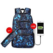 singedan15.6 inch laptop backpack for boy schoolbag men black bag -E