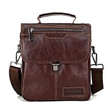 douajso Men Business Leather Handbag Briefcase Crossbody Messenger Casual Shoulder Bag