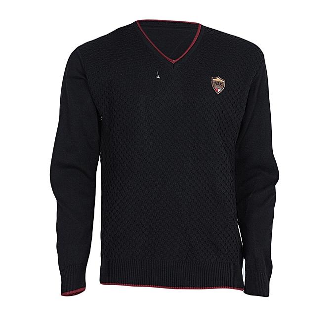 Shaphir Black V- Neck Men s Sweater   Best Price  f89dd5ba0