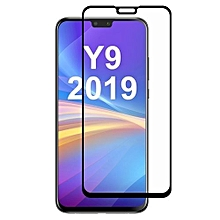 Hat-prince Full Glue 0.26mm 9H 2.5D Tempered Glass Film for Huawei Y9 (2019) (Black)