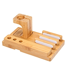 Bamboo Wood Charge Dock Charge Holder Charging Mobile Phone Bracket