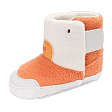bluerdream-Baby Girl Boys Soft Sole Booties Snow Boots Infant Toddler Newborn Warming Shoes-Orange
