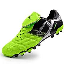 Men's Classic Big Tongue Youth Football Shoes, Rivet Reinforcement AG Nails, Short Nail Bottom-Green
