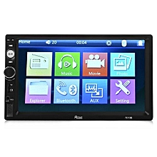 Rectangle 7010B 7 Inch Bluetooth FM Radio Car MP5 Player With 720P Camera-BLACK