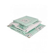 Duvet Cover Set - 4 x 6 - Green & White Floral