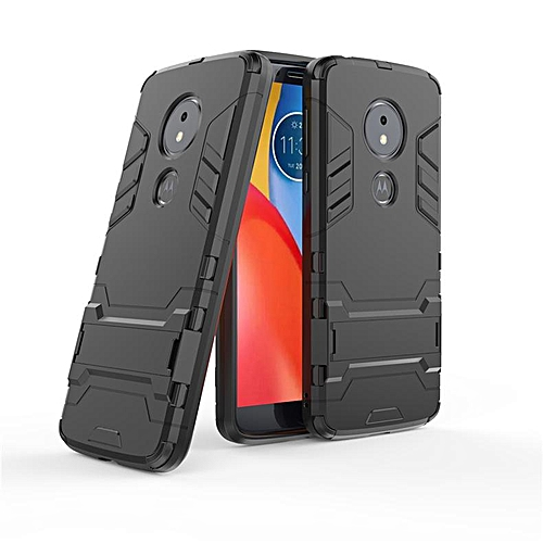 huge selection of 262a5 8b1d8 Hard Cover Invisible Bracket 2 In 1 New Mobile Phone Case For Motorola Moto  E5 (Black)