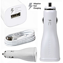 Galaxy Adaptive Car Charger with Micro USB Cable 2A 5V