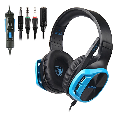 4f30b486451 Sades SADES R17 Stereo Gaming Headset Over-Ear Wired Headphones Earphones  for Laptop Mac PC PS4 Xbox One Nintendo Switch with Microphone 3.5mm Jack  Mic Mute ...