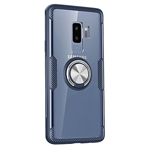 buy online e4bd4 8e483 Samsung Galaxy S9+ Case,Ultra-Slim Clear Shock Absorbing Case with Ring  Holder Stand Compatible Magnetic Car Mount Cover for Samsung Galaxy S9+/S9  ...