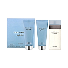 Light Blue Travel Edition Gift Set for Women - 100ml EDT + 100ml Body Cream + 100ml Shower Gel