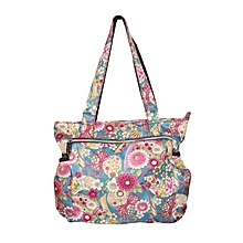 Waterproof Multi Color Floral Print Diaper Bag With Pouch