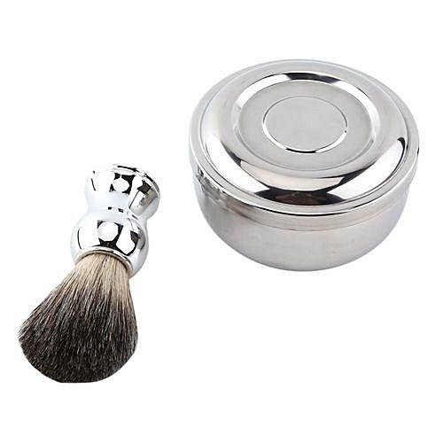 Universal Men Shave Tool Kit Shaving Soap Mug Bowl With Lid Faux
