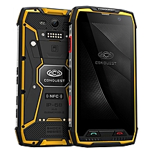 Conquest S11, 6GB+128GB, Walkie Talkie Function, RFID, 2W DMR, 7000mAh Battery, IP68 Waterproof Dustproof Shockproof Explosionproof, Fingerprint Identification, 5.0 inch Android 7.0 MTK6757 Octa Core up to 2.6GHz, Network: 4G, NFC, RFID, POC(Yellow)