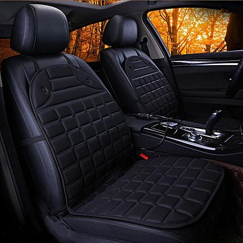 DC 12V Black Blue Gray 2Pcs Car Seat Heater Mats Universal For Home Office