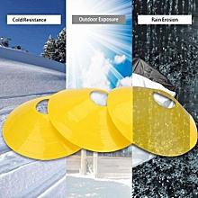 10 Pcs Practical Mini Field Cone Discs Marker Soccer Football Sport Speed Training Tool(Yellow)