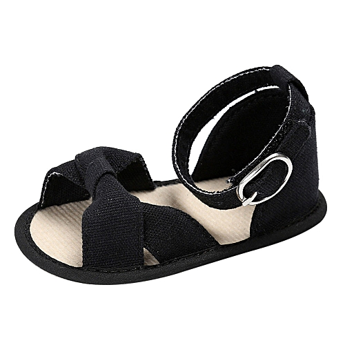 8e1c37e7ed552 Baby Sandals Infant Kids Girl Soft Sole Crib Toddler Newborn Shoes-Black