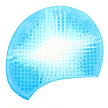Unisex Swim Cap Durable Silicone Sporty Swimming Bathing Colorful Hat Non-toxic Blue And White