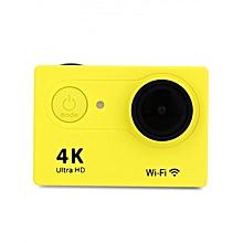H9 - Action Sport Video Camera 4K 30M Waterproof WiFi EU PLUG - Yellow