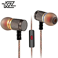 KZ EDR1 Wired In-ear Metal Housing Earphones for Smart Phone iPhone iPad Tablet PC Headset Headphone 3.5mm Heavy Bass Earbud HiFi Player GT0031  XYX-S