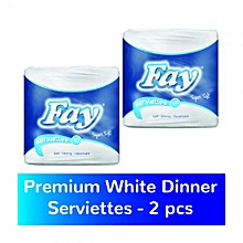 Premium white Dinner Serviette/Napkin - 2s