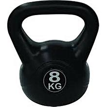 Black Vinyl Kettle Bell - 8KG