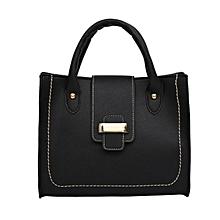 Fashion Women Hand Bag PU Leather Cross Body Bag Hasp Shoulder Bag for Travel black