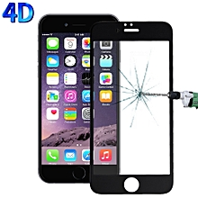 For iPhone 6 & 6s 0.26mm 9H Surface Hardness 4D Curverd Arc Explosion-proof HD Silk-screen Tempered Glass Full Screen Film (Black)