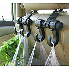 AfricanmallDN store  2PC Car Seat Back Storage Hook Sundries Hanger Bag Holder Universal -Black