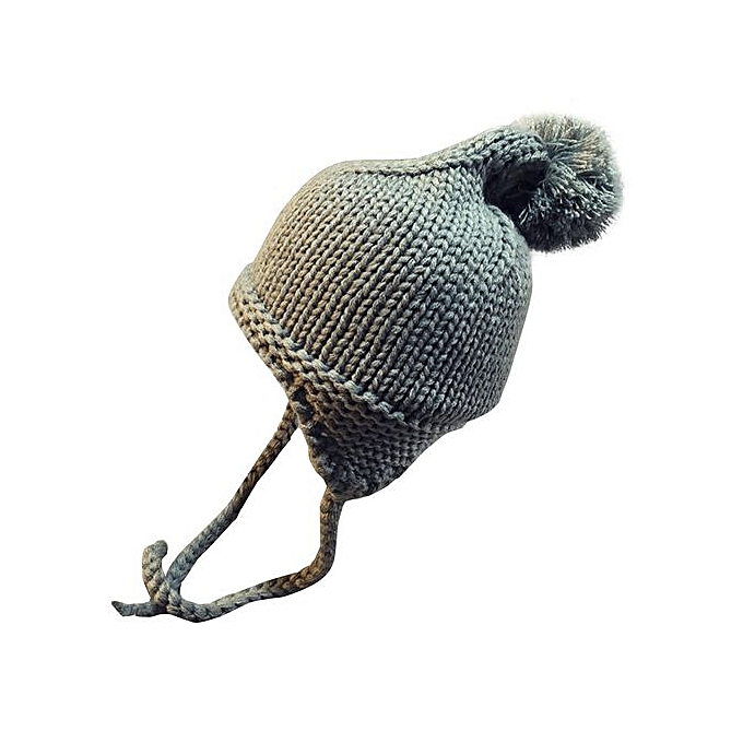 2255470f6 Baby Toddler Kids Boy Girl Knitted Crochet Beanie Winter Warm Hat Cap- Gray